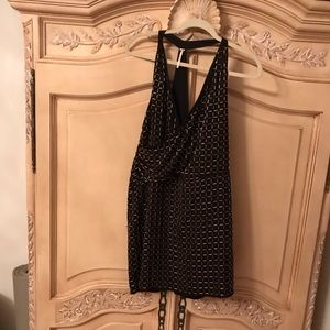 NWOT Free People Size 6 Black Beaded Dress